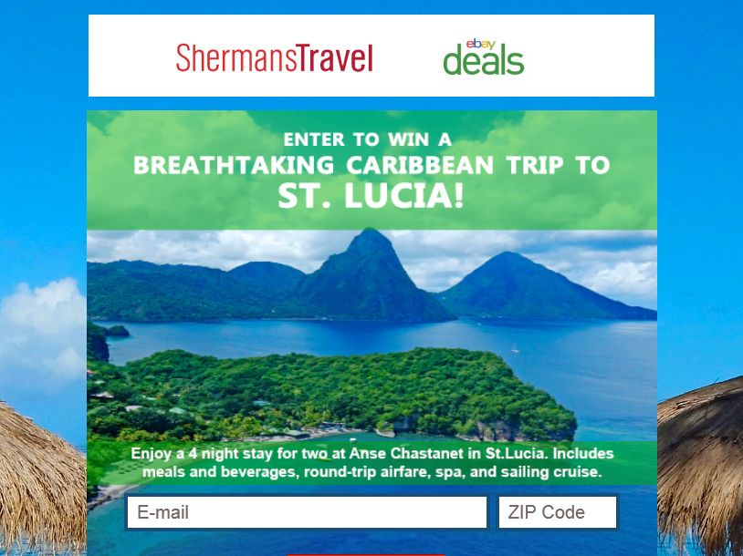 "The Shermans Travel ""A Breathtaking Caribbean Trip to St. Lucia"" Sweepstakes"