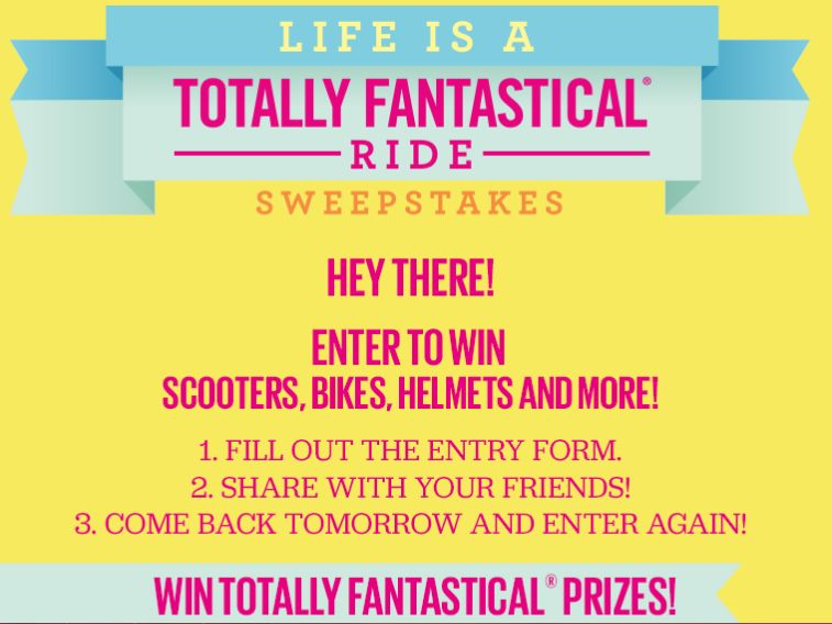 "Angie's Popcorn ""Life is a Totally Fantastical Ride"" Sweepstakes"