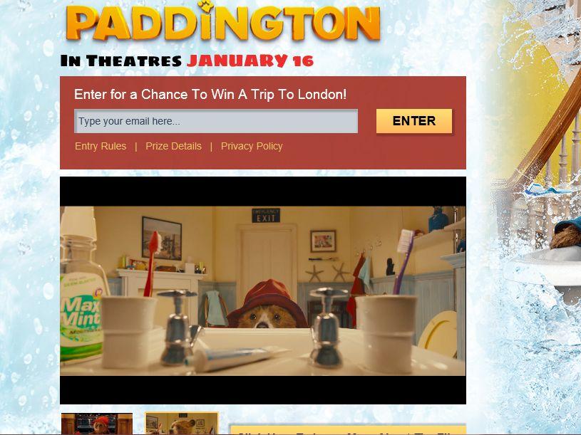The Weinstein Paddington Movie Sweepstakes