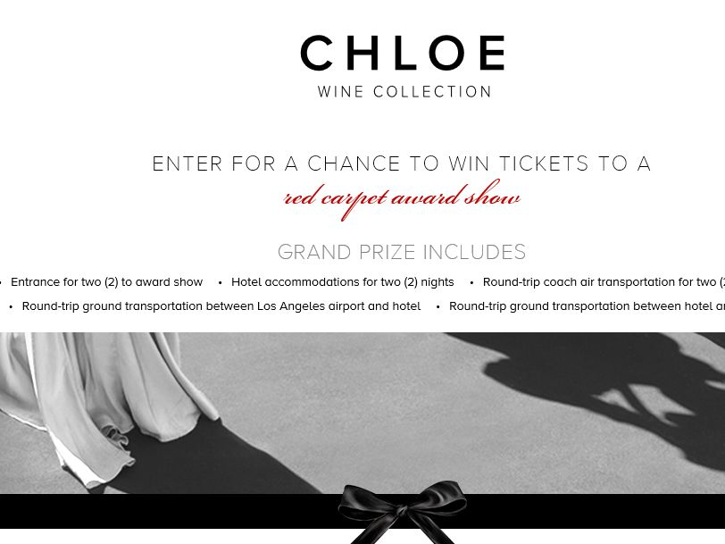 The Chloe Wine Collection 2015 Red Carpet Sweepstakes