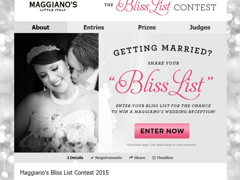 Maggiano's The Bliss LIST 2015 Contest