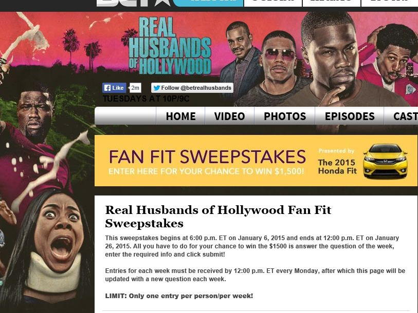 Real Husbands of Hollywood Fan Fit Sweepstakes