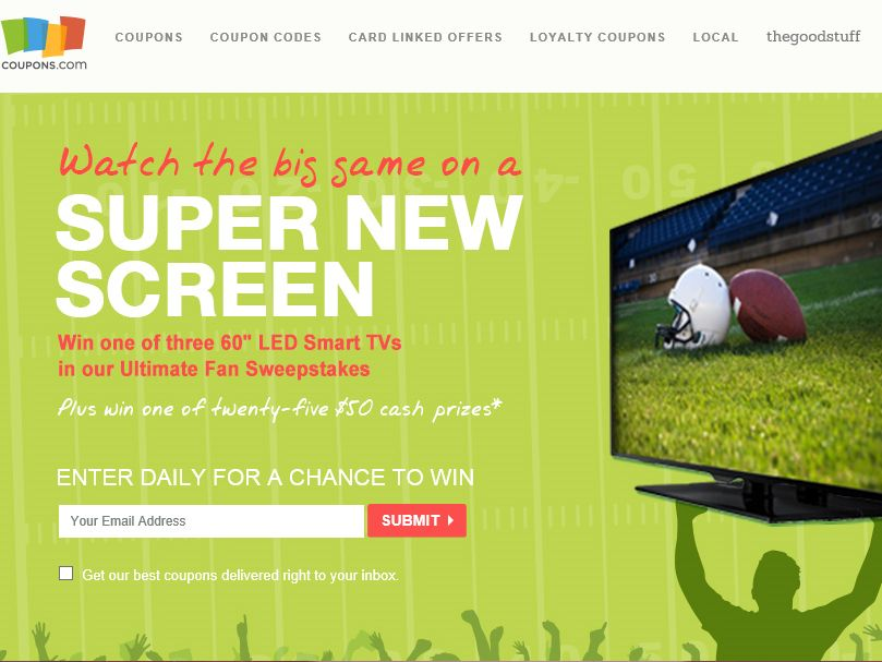 Coupons.com Ultimate Fan Sweepstakes