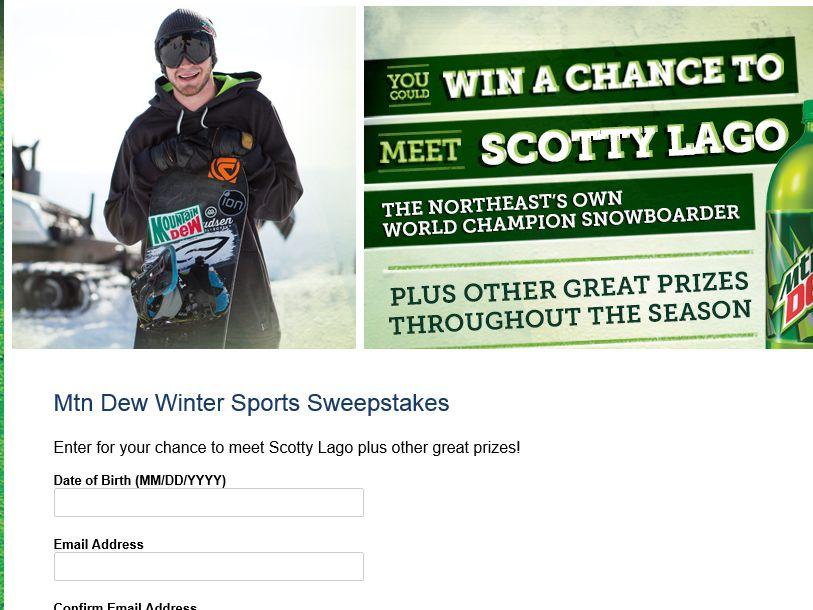 Mountain Dew Winter Sports Sweepstakes