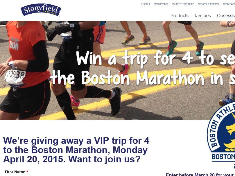 The Boston Marathon Enter for a Chance to Win Sweepstakes