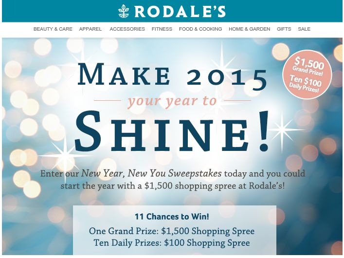 The Rodale's New Year, New You Shopping Spree Sweepstakes