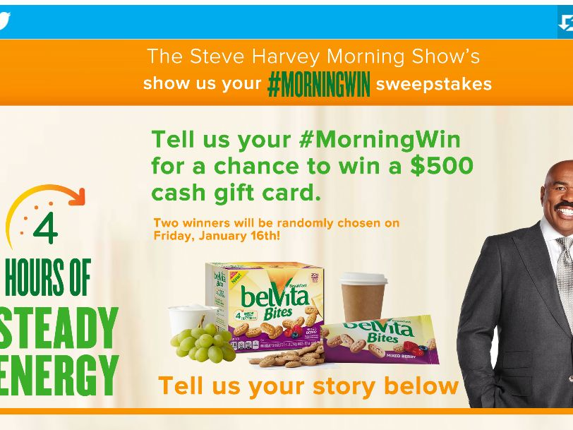 The Steve Harvey Morning Show's Tell Us Your #MorningWin Sweepstakes