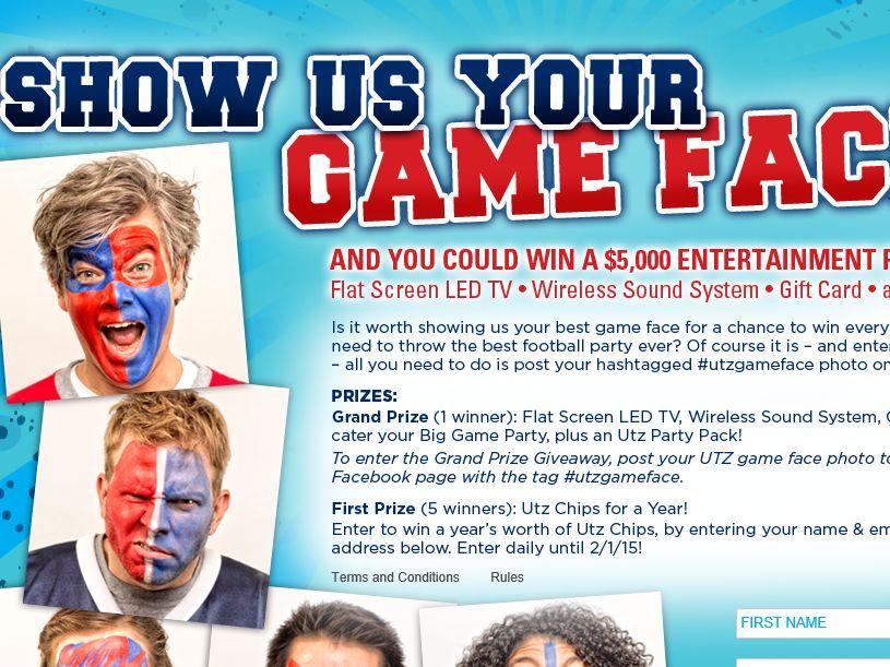 Utz Game Face Sweepstakes