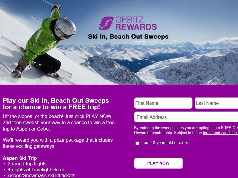 Orbitz Ski In, Beach Out Sweepstakes