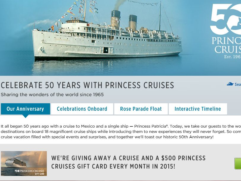 Princess Cruises 50th Anniversary Sweepstakes