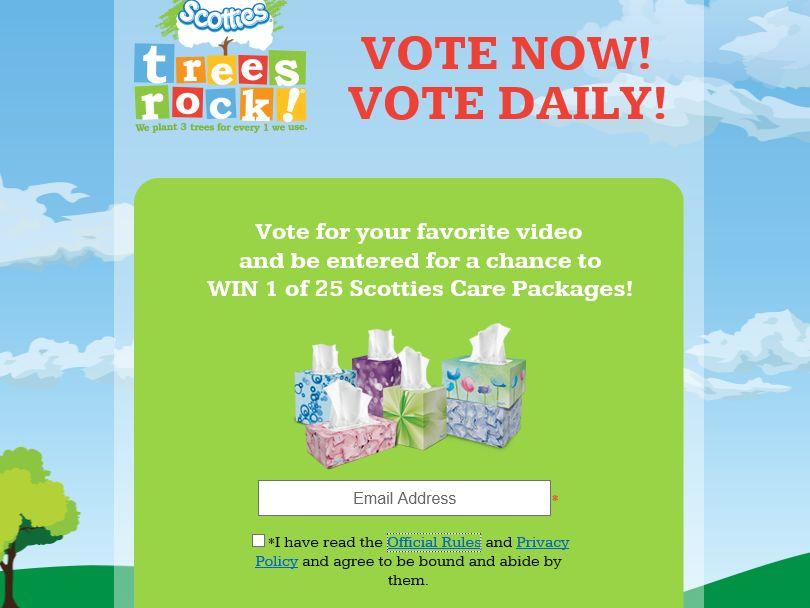 Scotties Trees Rock Finalist Vote Sweepstakes