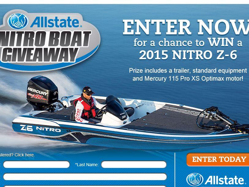The Allstate Nitro Z-6 Boat Giveaway