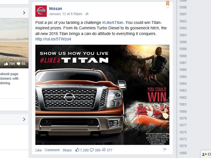 The Nissan #LikeATitan Sweepstakes