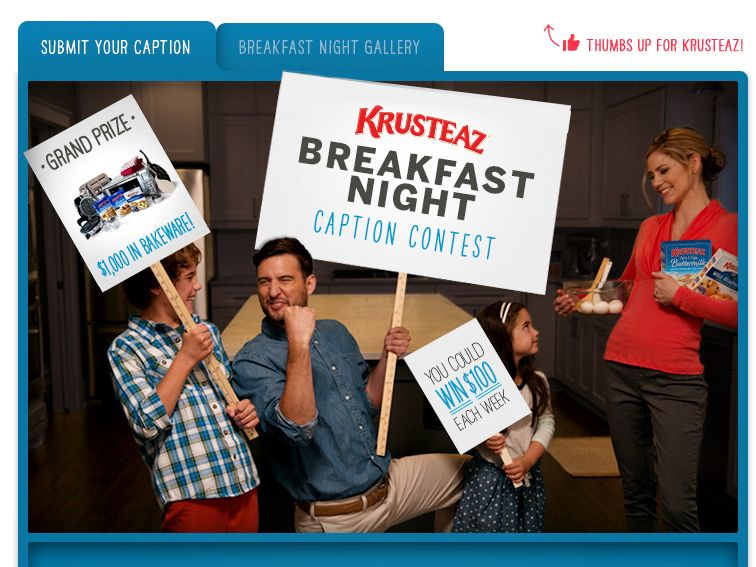 KRUSTEAZ Breakfast Night Caption Contest