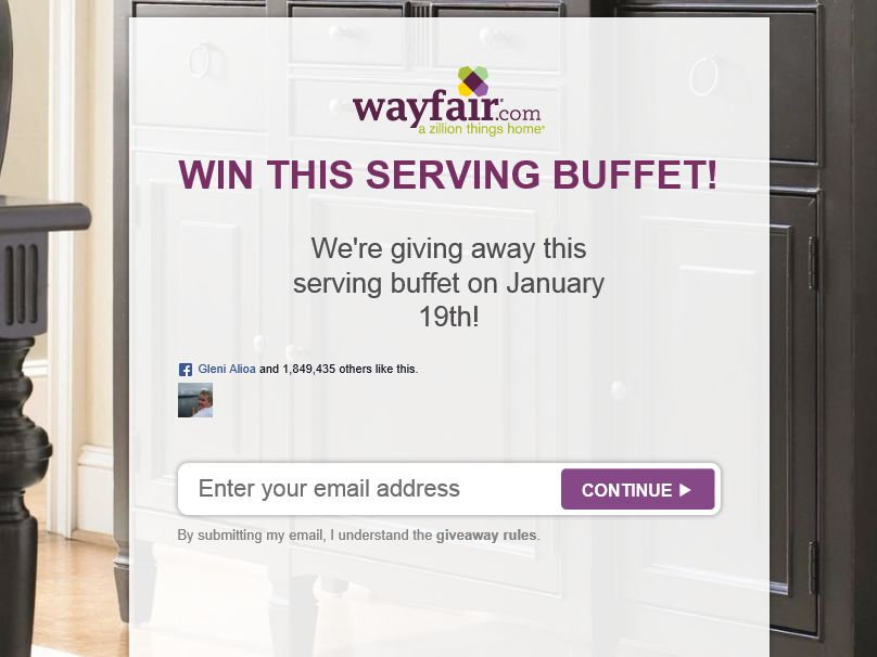 Wayfair Giveaway Sweepstakes