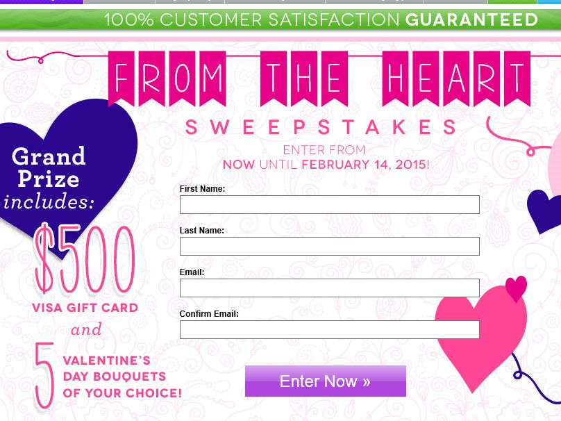 The Send Flowers From the Heart Sweepstakes