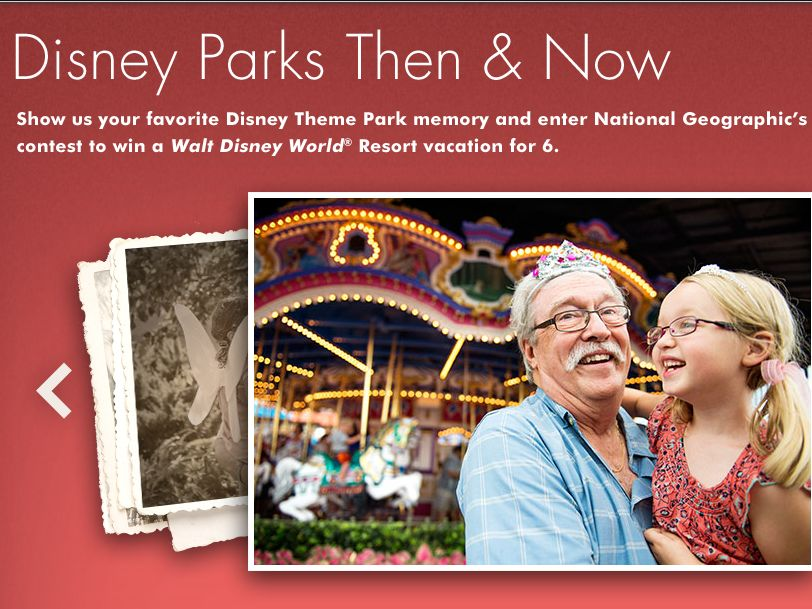 The National Geographic Disney Then and Now Photo Contest