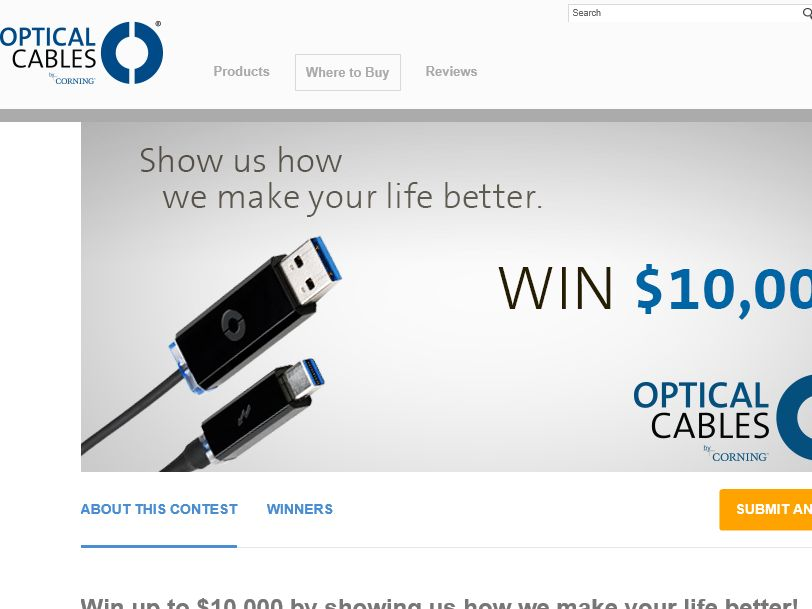 The Optical Cables Film and Win Contest