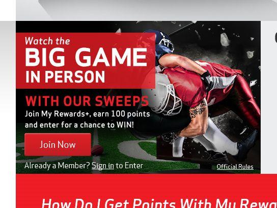 The Verizon My Rewards+ Big Game Sweepstakes