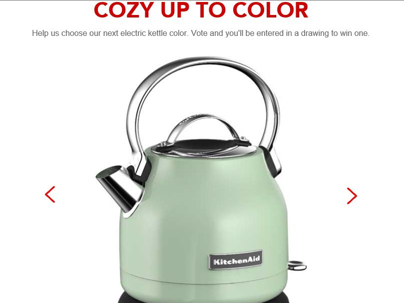 "KitchenAid ""Get Cozy With Color"" Sweepstakes"