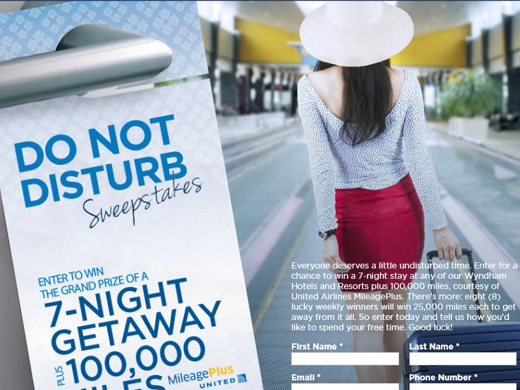 """The Wyndham Hotels and Resorts """"Do Not Disturb"""" Sweepstakes"""
