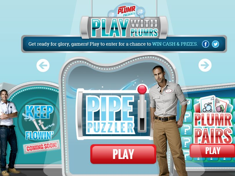Liquid-Plumr Pipe Puzzler Instant Win Game Sweepstakes