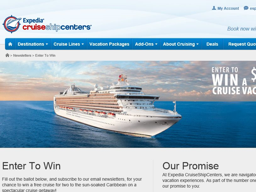 Expedia Cruise Ship Centers Dream Vacation Contest
