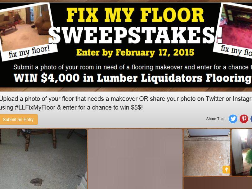 Lumber Liquidators #LLFixMyFloor Sweepstakes
