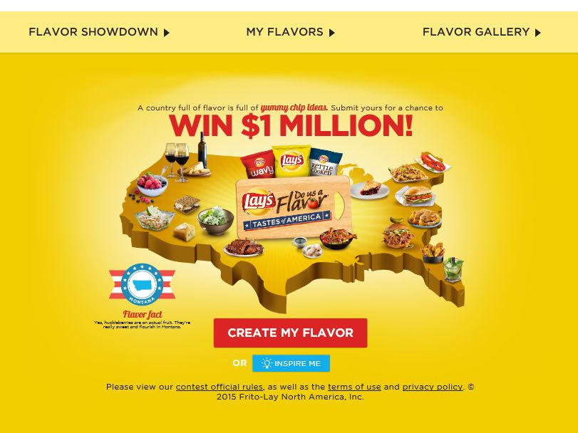 The LAY'S Do Us A Flavor Tastes of America Contest