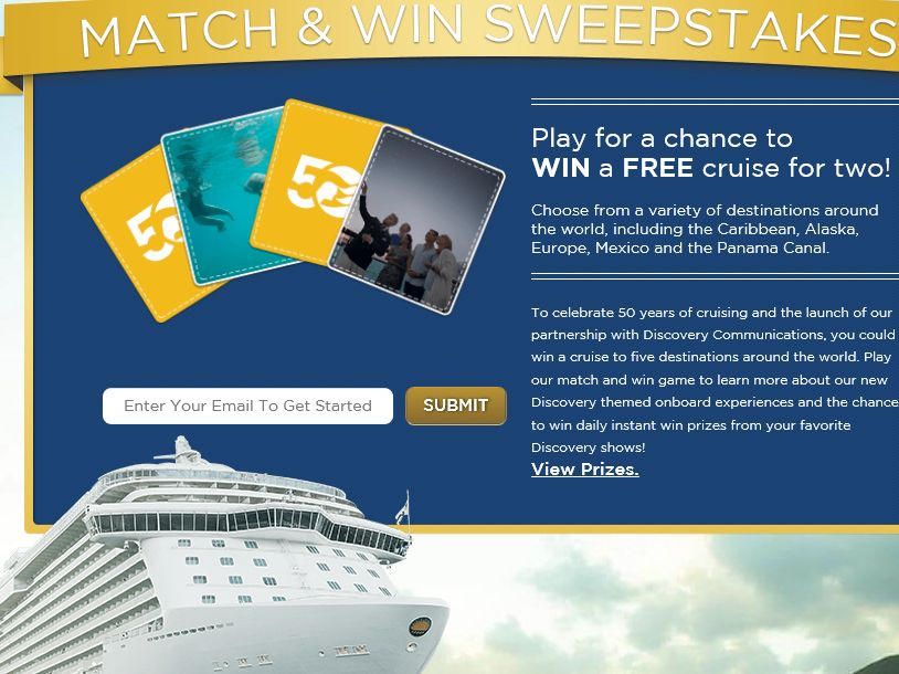 Princess Cruises Discovery Match and Win Promotion