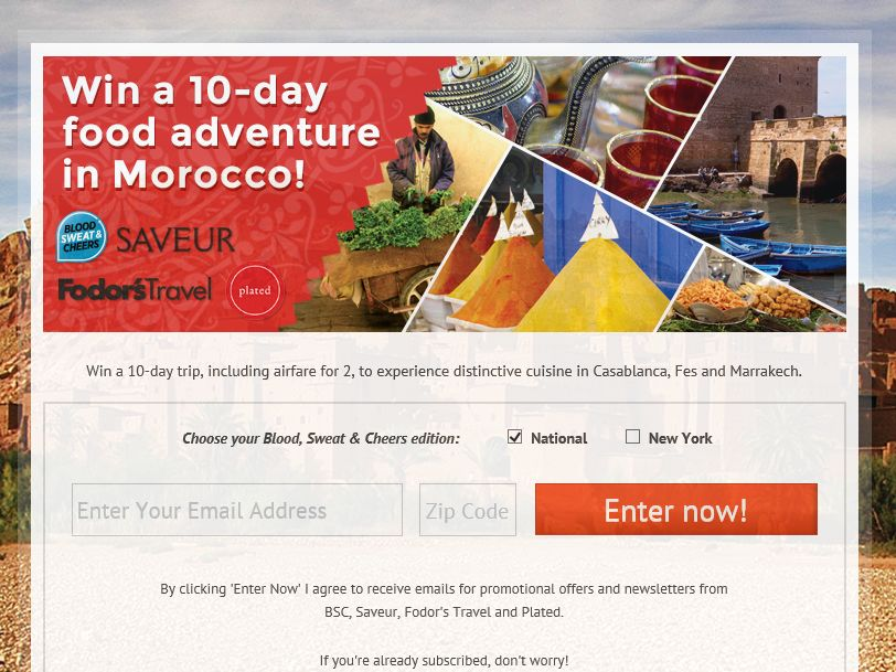 Fodor's Travel Morocco Sweepstakes