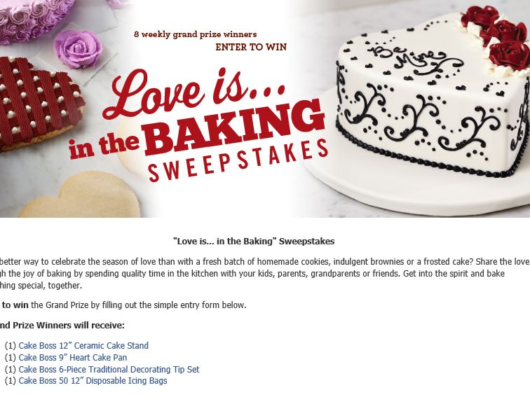 """The Cake Boss Baking """"Love is in the Baking"""" Sweepstakes"""