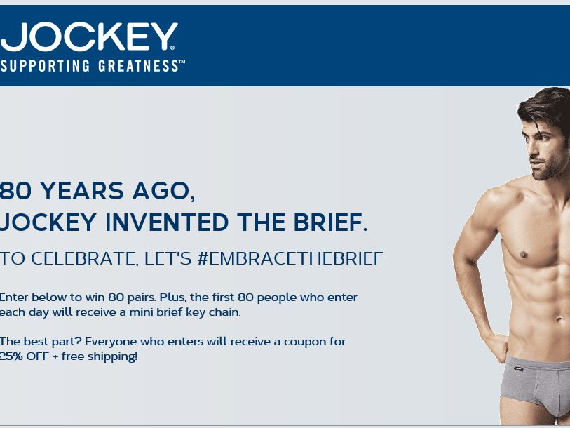The 80th Anniversary of the Jockey Brief Sweepstakes