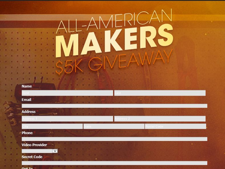 The Science Channel All-American Makers $5K Giveaway