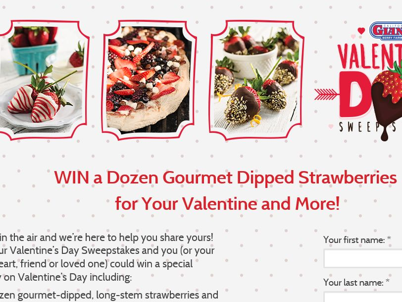 California Giant Berry Farms Valentine's Day Sweepstakes