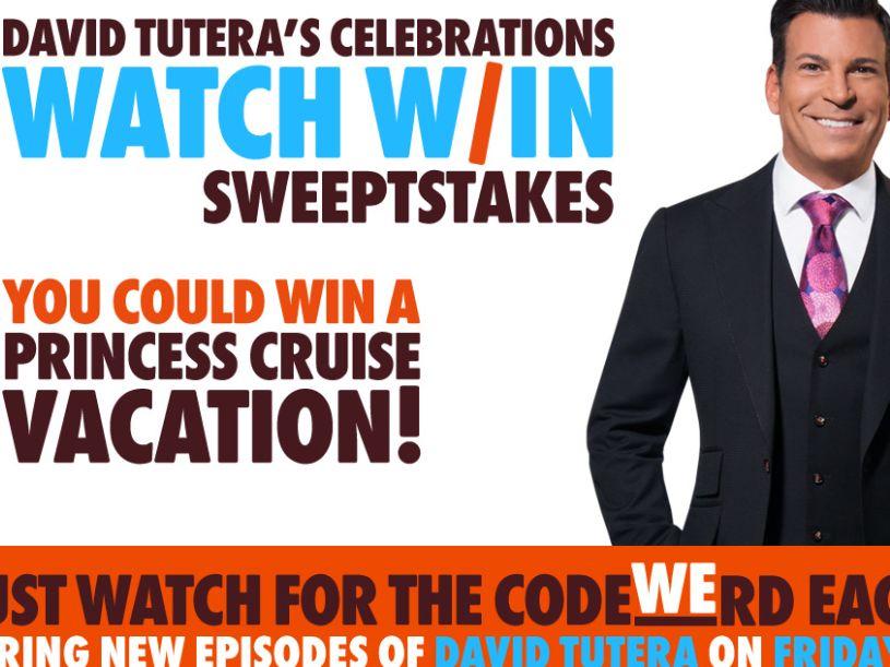 WEtv David Tutera CELEbrations Watch & Win Sweepstakes