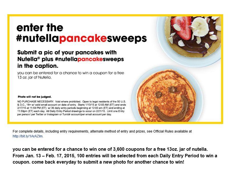 The Nutella Pancake Sweepstakes