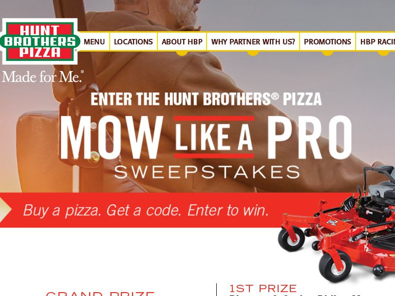 "Hunt Brothers Pizza ""Mow Like a Pro"" Sweepstakes"