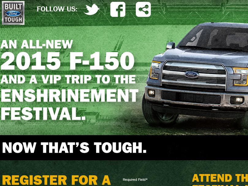 The Built Ford Tough Pro Football Hall of Fame Sweepstakes
