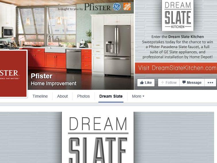 PFISTER Dream Slate Kitchen Sweepstakes