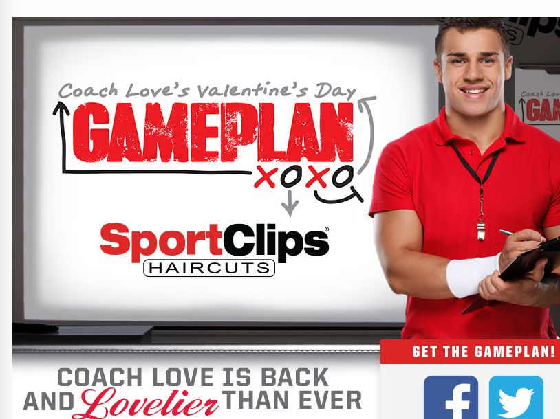 """The Sport Clips """"VALENTINE'S DAY GAMEPLAN"""" Sweepstakes"""