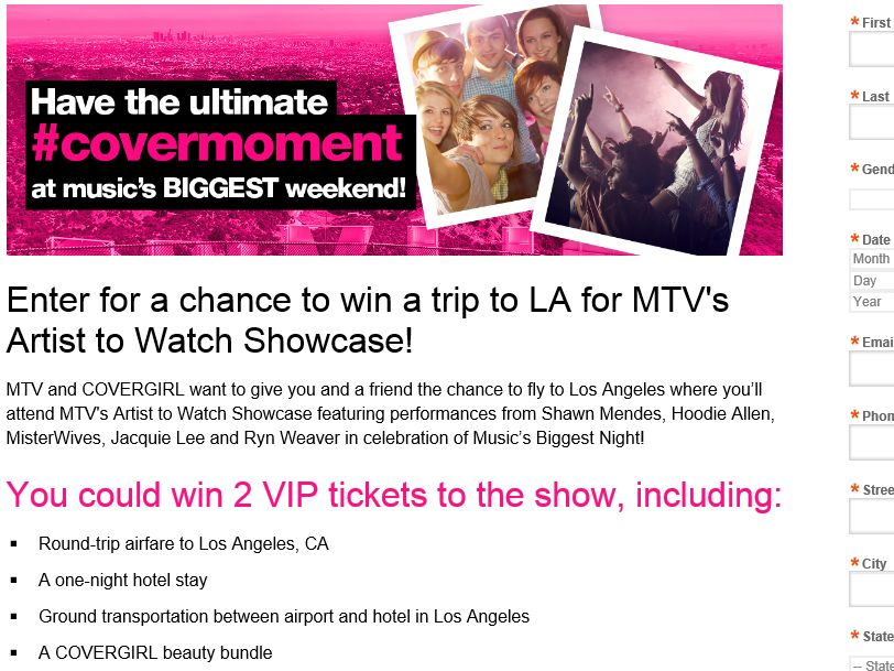 mtv sweepstakes the mtv covermoment 2015 artist to watch showcase sweepstakes 6943