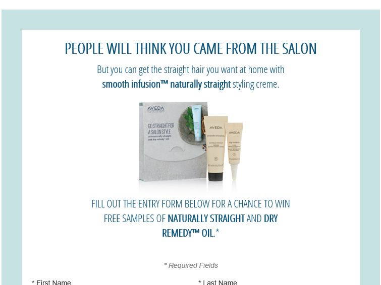 "Aveda's ""Naturally Straight and Dry Remedy Oil"" Sweepstakes"