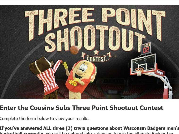 Cousins Subs 3‐Point Shootout Contest