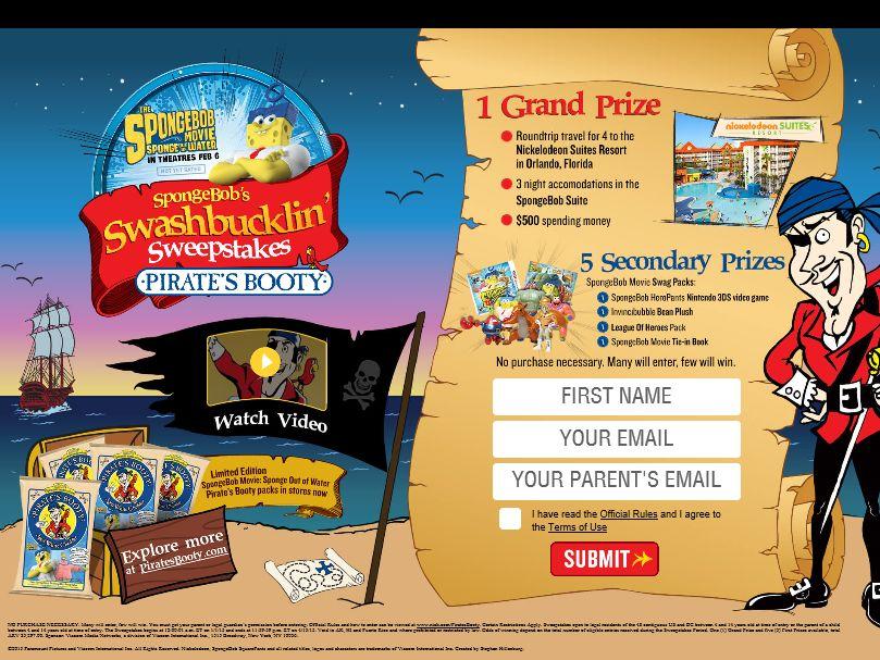 SpongeBob Swashbucklin' Sweepstakes