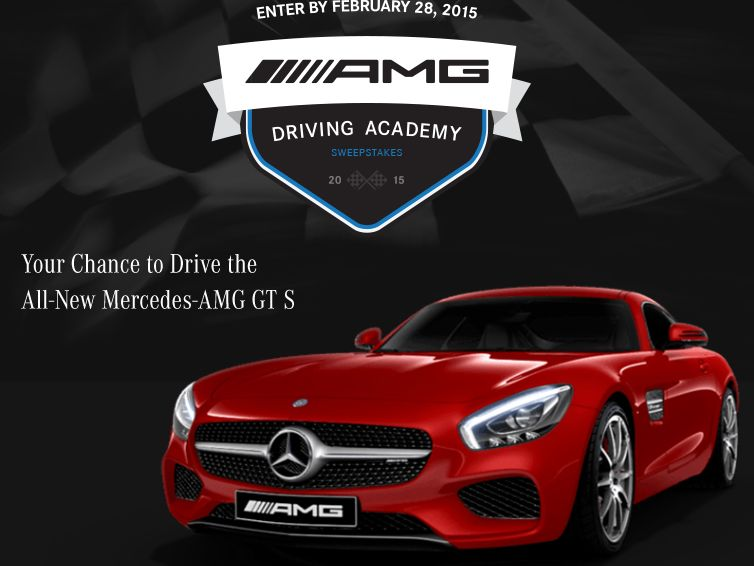 2015 AMG Driving Academy Sweepstakes