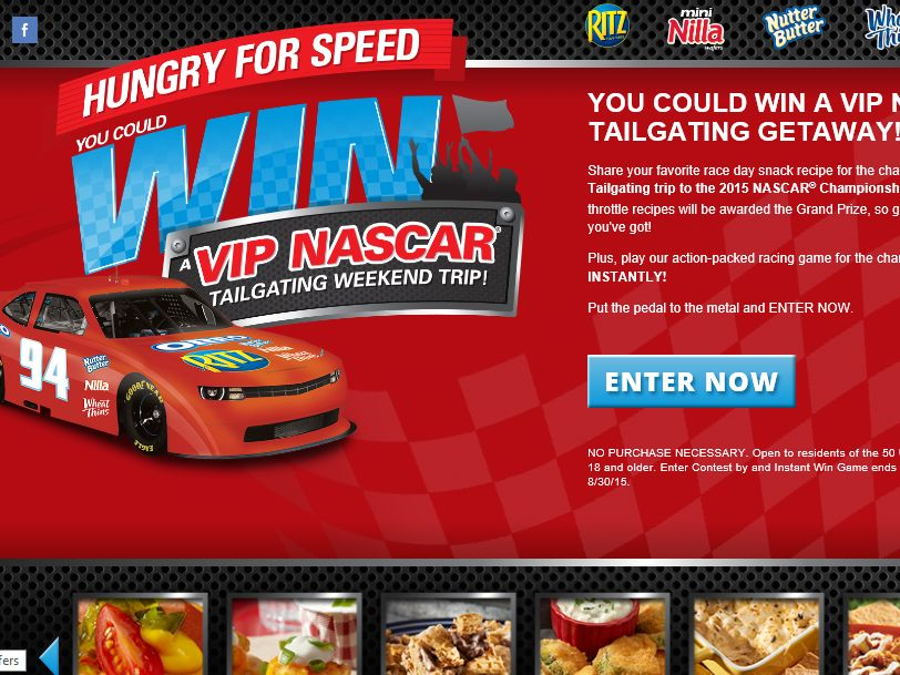 NABISCO'S Hungry for Speed Instant Win and Contest