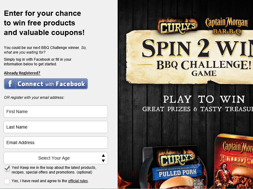 Curly's BBQ Challenge Sweepstakes