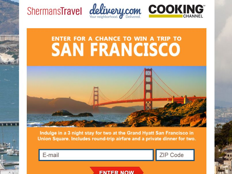 """The Sherman Travel """"Win a Trip to San Francisco"""" Sweepstakes"""
