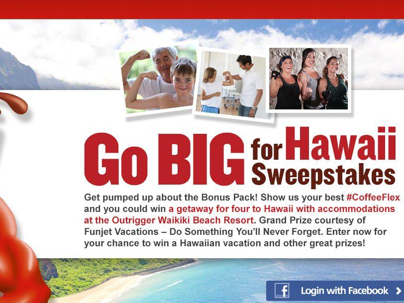 Go BIG For Hawaii Muscle Sweepstakes